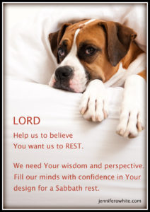 Know God's plan for your rest