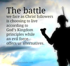 the battle a Christ follower faces