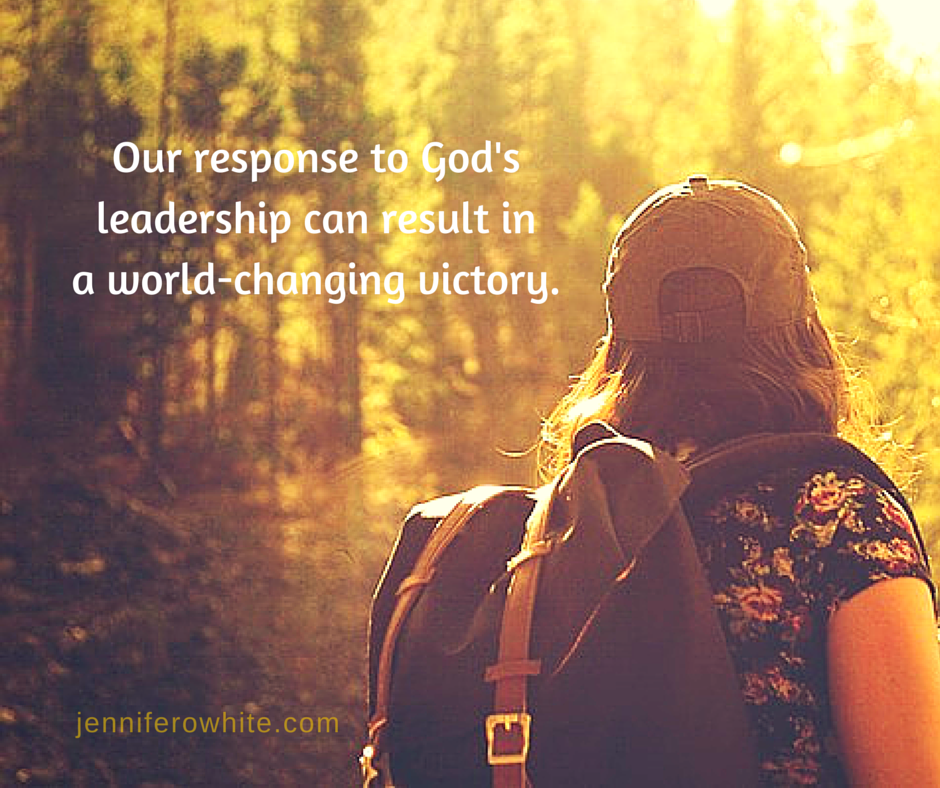 Our response to God's leadership resulted